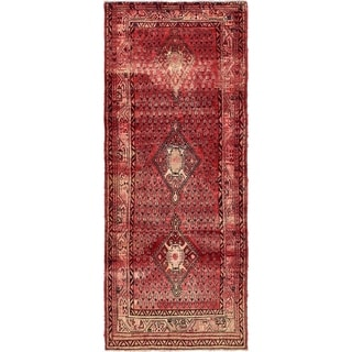 Hand Knotted Botemir Semi Antique Wool Runner Rug - 4' 1 x 10' 3