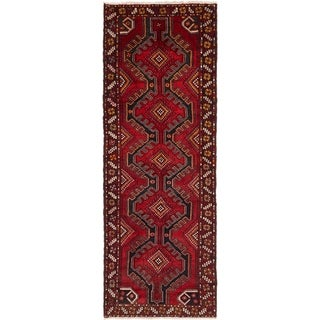 Hand Knotted Chenar Semi Antique Wool Runner Rug - 3' 7 x 10' 6