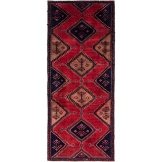 Hand Knotted Chenar Semi Antique Wool Runner Rug - 3' 3 x 7' 10
