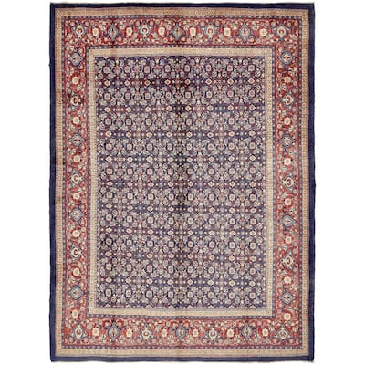 Hand Knotted Farahan Semi Antique Wool Area Rug - 10' x 13' 2