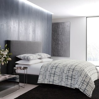 Vera Wang Shibori Grid Duvet Cover Set