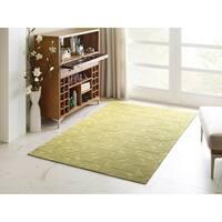 Kaleen Rachael Ray Soho Yellow Polyacrylic Handmade Area Rug - 8' x 10'