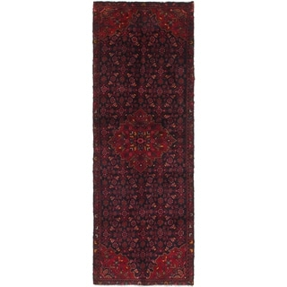 Hand Knotted Farahan Wool Runner Rug - 3' 7 x 10' 3