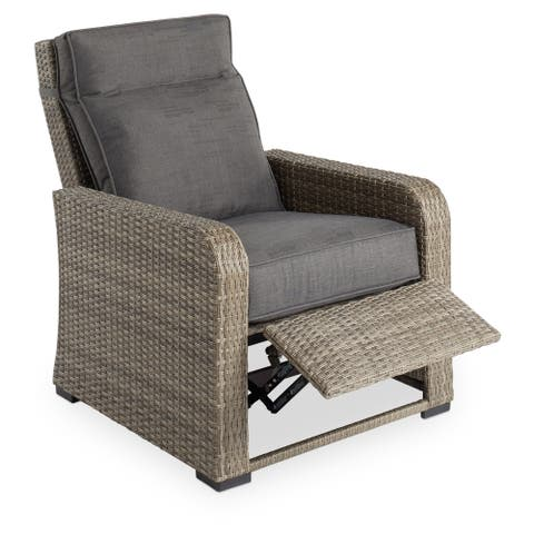 Monaco Grey Outdoor Push Back Recliner by Havenside Home