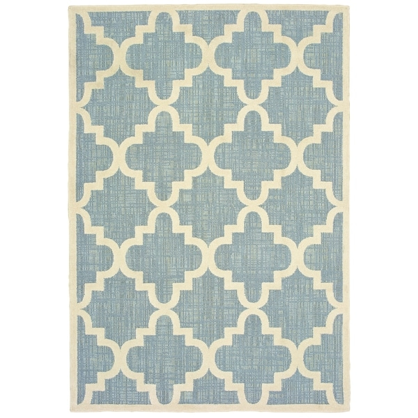 """Rectangle Rug/ Barbados 7 Ft.10 In. X 10 Ft. 0 In./ Outdoor/ Geometric - 7'10"""" x 10'"""