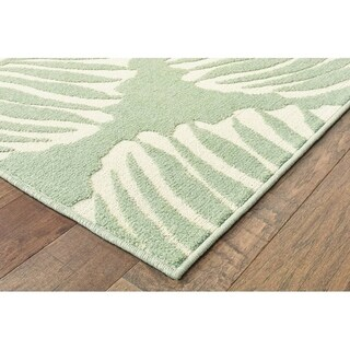 """Rectangle Rug/ Barbados 7 Ft.10 In. X 10 Ft. 0 In./ Outdoor/ Floral - 7'10"""" x 10'"""