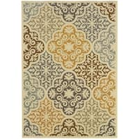 "Rectangle Rug/ Bali 8 Ft. 6 In. X 13 Ft. 0 In./ Outdoor/ Floral - 8' 6"" x 13' 0"""