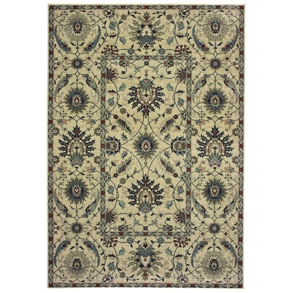 "Rectangle Rug/ Raleigh 1 Ft.10 In. X 3 Ft. 0 In./ Traditional/ Oriental - 1'10"" x 3'"