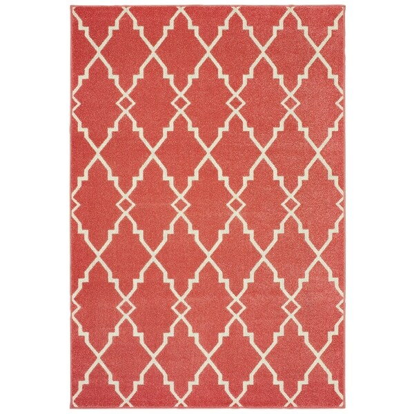 """Rectangle Rug/ Barbados 5 Ft. 3 In. X 7 Ft. 6 In./ Outdoor/ Geometric - 5'3"""" x 7'6"""""""