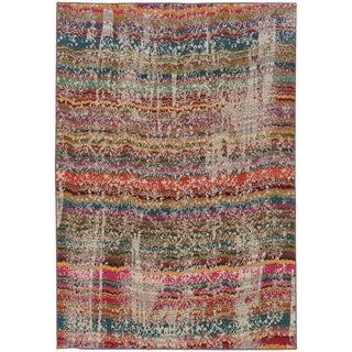 """Rectangle Rug/ Kaleidoscope 5 Ft. 3 In. X  7 Ft. 6 In./ Casual/ Abstract - multi - 5' 3"""" x  7' 6"""""""