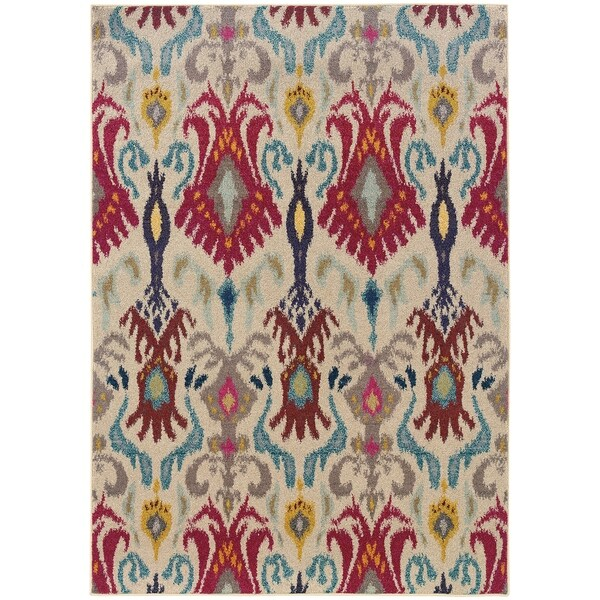 """Rectangle Rug/ Kaleidoscope 5 Ft. 3 In. X 7 Ft. 6 In./ Casual/ Abstract - 5'3"""" x 7'6"""""""