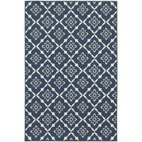 """Rectangle Rug/ Meridian 6 Ft. 7 In. X  9 Ft. 6 In./ Outdoor/ Floral - 6'7"""" x 9'6"""""""