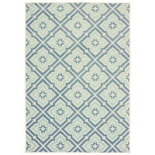 """Rectangle Rug/ Barbados 6 Ft. 7 In. X  9 Ft. 6 In./ Outdoor/ Geometric - 6'7"""" x 9'6"""""""