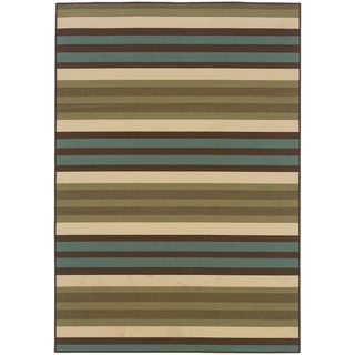 "Rectangle Rug/ Montego 7 Ft.10 In. X 10 Ft.10 In./ Outdoor/ Geometric - 7'10"" x 10'10"""