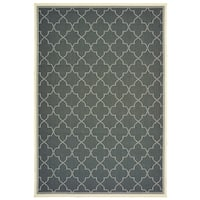 "Rectangle Rug/ Marina 8 Ft. 6 In. X 13 Ft. 0 In./ Outdoor/ Geometric - 8' 6"" x 13' 0"""