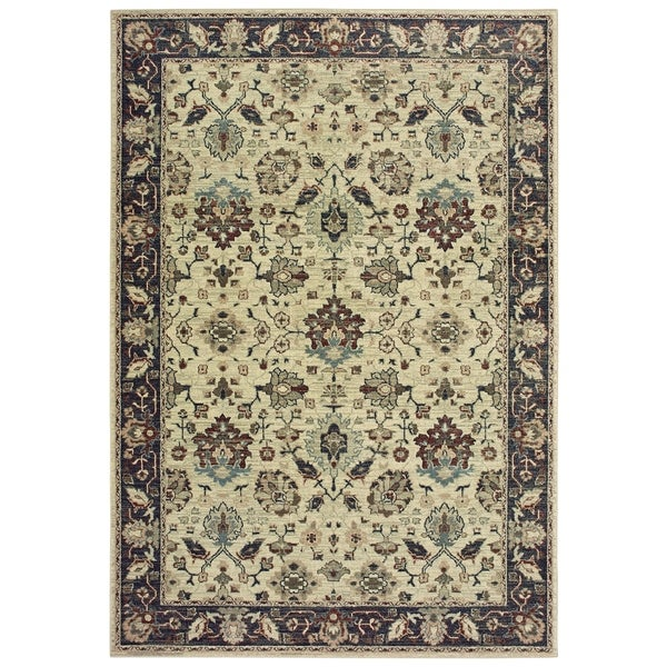 """Rectangle Rug/ Raleigh 5 Ft. 3 In. X 7 Ft. 6 In./ Traditional/ Oriental - 5'3"""" x 7'6"""""""