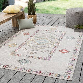 "The Curated Nomad Don Chee Tribal Medallion Indoor/ Outdoor Area Rug - 8'10 x 12' - 8'10"" x 12'"