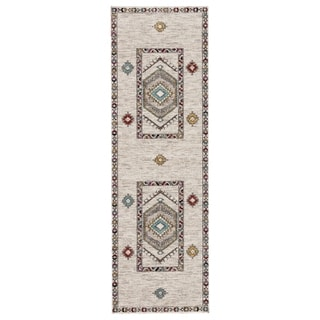 "The Curated Nomad Don Chee Tribal Indoor/ Outdoor Runner Rug - 2'6"" x 8' Runner"