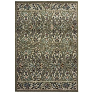 """Rectangle Rug/ Raleigh 5 Ft. 3 In. X  7 Ft. 6 In./ Casual/ Floral - 5'3"""" x 7'6"""""""