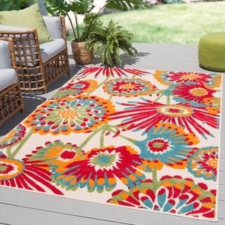 """Tifton Indoor/ Outdoor Floral Multicolor Area Rug - Multi - 8'8""""x11'10"""""""