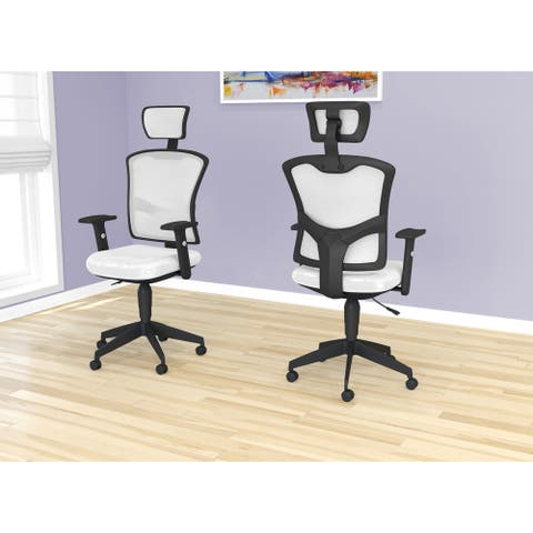 Office Chair-White Mesh/Executive/Multi Position