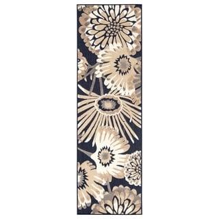 """Tifton Indoor/ Outdoor Floral Runner Rug - 2'6"""" x 8' Runner"""