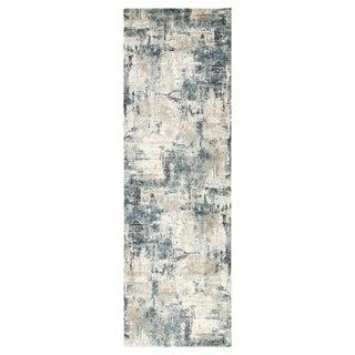 "Tempesta Abstract Blue/ Gray Runner Rug - 2'8"" x 8' Runner"