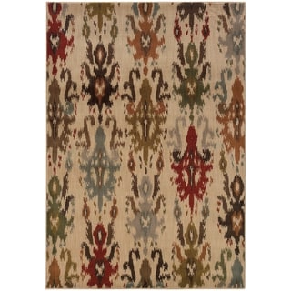 """Rectangle Rug/ Casablanca 7 Ft.10 In. X 10 Ft.10 In./ Casual/ Floral - 7'10"""" x 10'10"""""""