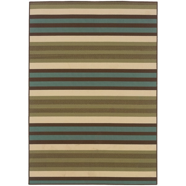 """Rectangle Rug/ Montego 5 Ft. 3 In. X 7 Ft. 6 In./ Outdoor/ Geometric - 5'3"""" x 7'6"""""""
