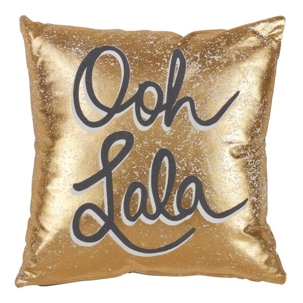 Ooh Lala Down Filled Cotton Throw Pillow