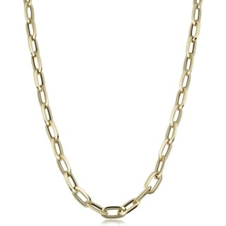 14k Yellow Gold Italian Polished Oval Link Necklace 7 25mm 20 Inches