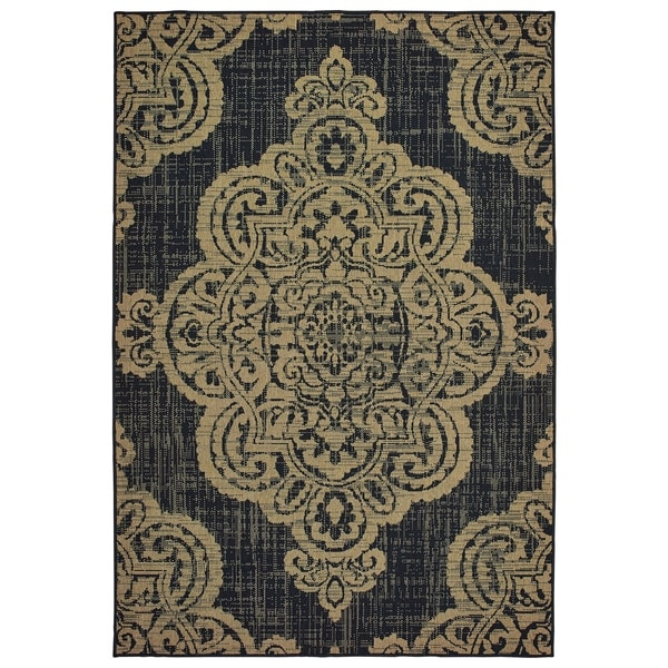 "Rectangle Rug/ Marina 5 Ft. 3 In. X 7 Ft. 6 In./ Outdoor/ Oriental - 5' 3"" x 7' 6"""