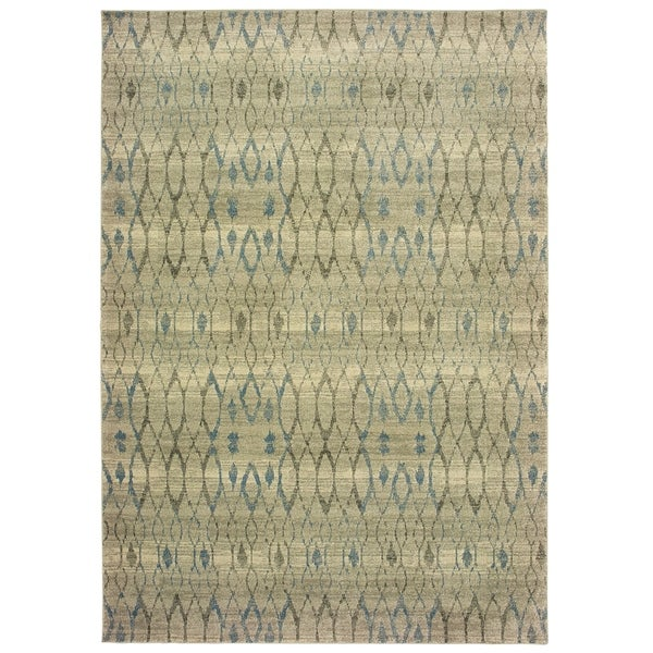 """Rectangle Rug/ Raleigh 5 Ft. 3 In. X 7 Ft. 6 In./ Casual/ Geometric - 5' 3"""" x 7' 6"""""""