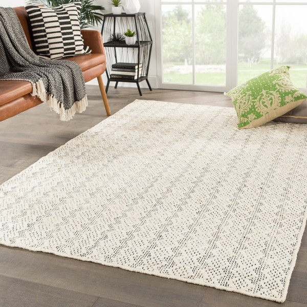 Black And White Geometric Rugs For Sale: Shop Sarasota Natural Geometric Ivory & White/ Black Area