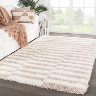 Vanna Stripes Ivory/ Pink Area Rug - 2' x 3'