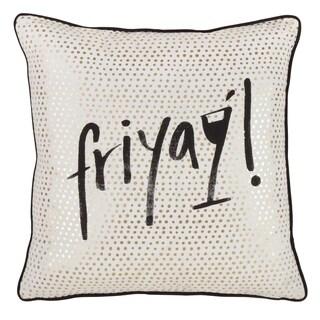 Friyay Down Filled Cotton Throw Pillow