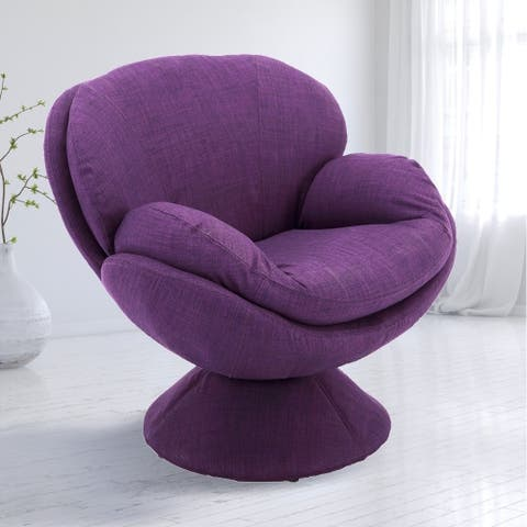 Comfort Chair by Mac Motion Pub Leisure Accent Chair in Purple Fabric