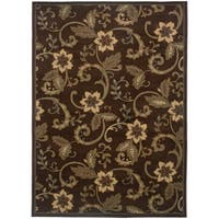 "Rectangle Rug/ Amelia 8 Ft. 2 In. X 10 Ft. 0 In./ Casual/ Floral - 8'2"" x 10'"