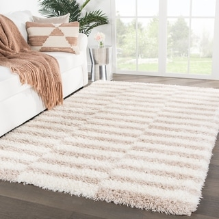 "Vanna Stripes Ivory/ Pink Area Rug - 7'10"" x 10'"