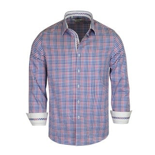 Monza Multi Color Checked Pattern Tailored-Fit Dress Shirt