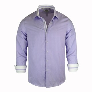 Monza Checked Pattern Tailored-Fit Men's Dress Shirt