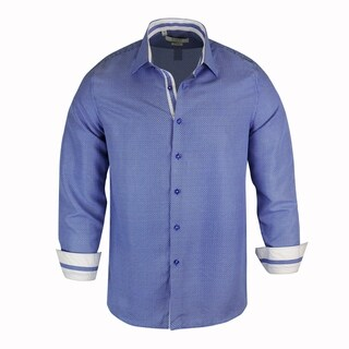 Monza Printed Fabric Tailored-Fit Men's Shirt