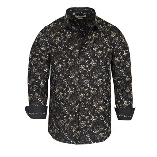 Monza Floral Pattern Tailored-Fit Dress Shirt