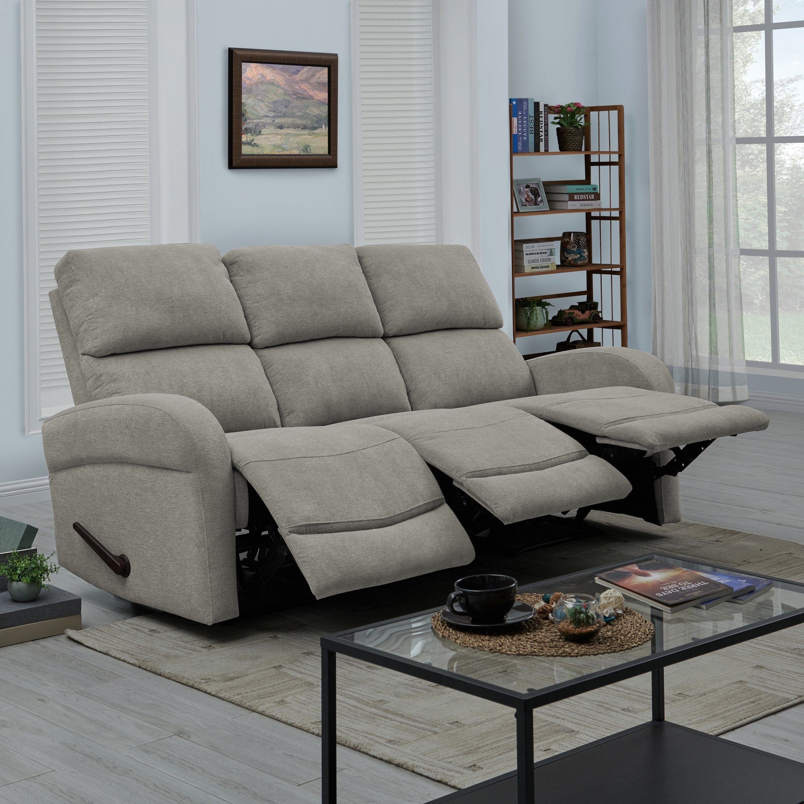 Copper Grove Herentals Grey Chenille 3-seat Recliner Sofa | eBay