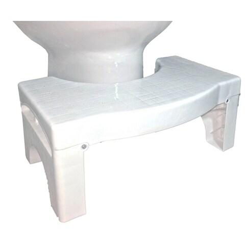 "Squat N Drop Folding Squatting Bathroom Toilet Potty Stool Step 7"" Collapsible Footstool"