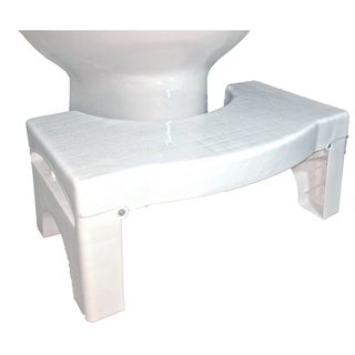 "Squat N Drop Folding Squatting Bathroom Toilet Potty Stool Step 7"" Collapsible Footstool"