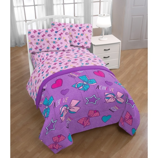 Shop Nickelodeon Jojo Siwa Dream Believe 4 Piece Twin Bed Set - Free