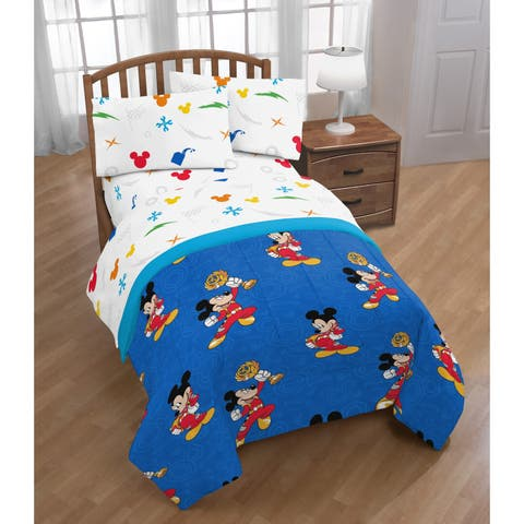 Disney Mickey Mouse Trophy 4 Piece Twin Bed Set