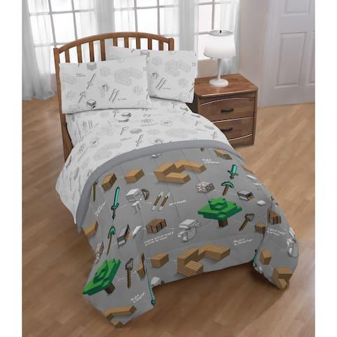 Minecraft Survive 4 Piece Twin Bed Set