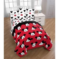 Disney Mickey Mouse  Cute Faces Reversible Twin Comforter